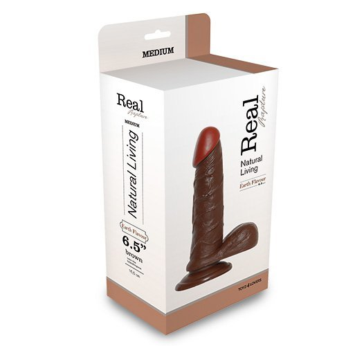 "Dildo-REALISTIC DILDO REAL RAPTURE BROWN 6.5"""""""""""""""""""""""""""""