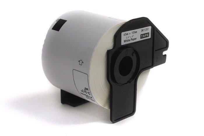 Etykiety JetWorld Zamiennik Brother DK Czarny na Białym 62mm*100mm*300 szt. DK11202, DK-11202, DK11.202