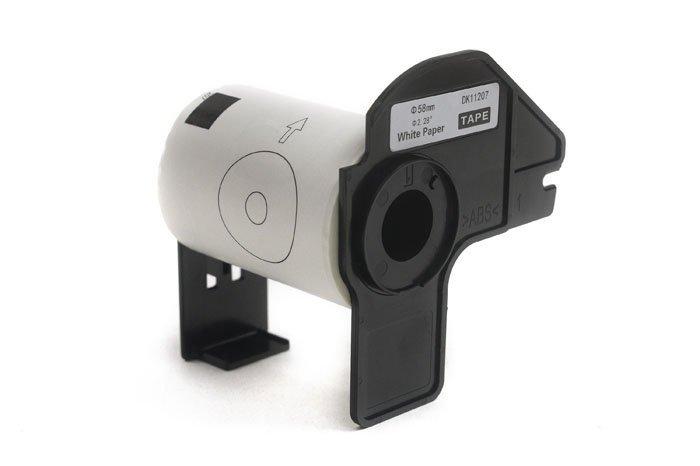 Etykiety JetWorld Zamiennik Brother DK Czarny na Białym 58mm*58mm*100 szt.  DK11207, DK-11207, DK11.207