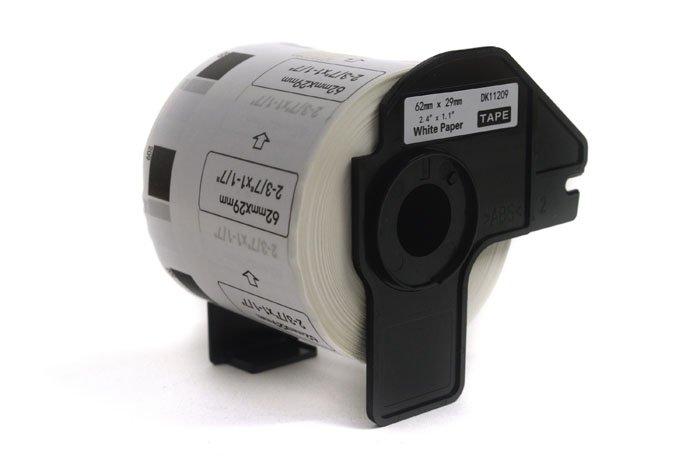 Etykiety JetWorld Zamiennik Brother DK Czarny na Białym 62mm*29mm*800 szt.  DK11209, DK-11209, DK11.209