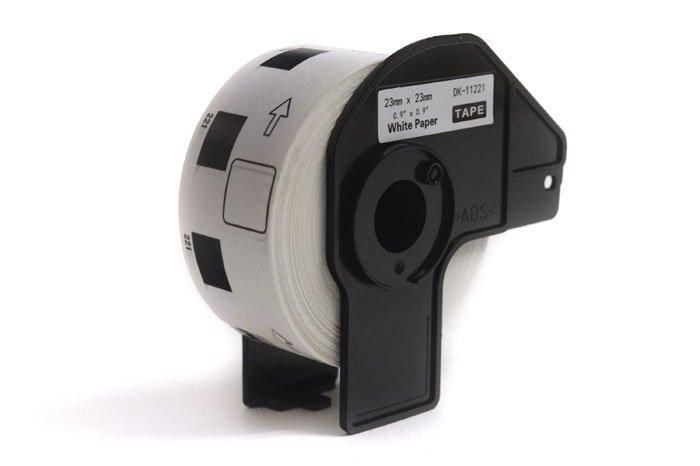 Etykiety JetWorld Zamiennik Brother DK Czarny na Białym 23mm*23mm*1000 szt.  DK11221, DK-11221, DK11.221