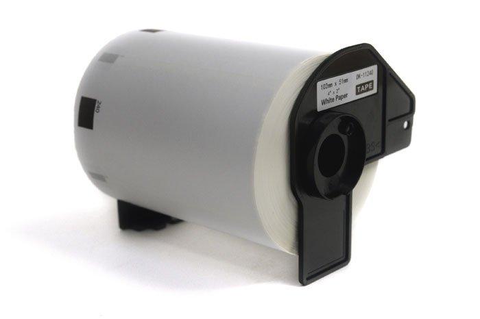 Etykiety JetWorld Zamiennik Brother DK Czarny na Białym 102mm*51mm*600 szt.  DK11240, DK-11240, DK11.240
