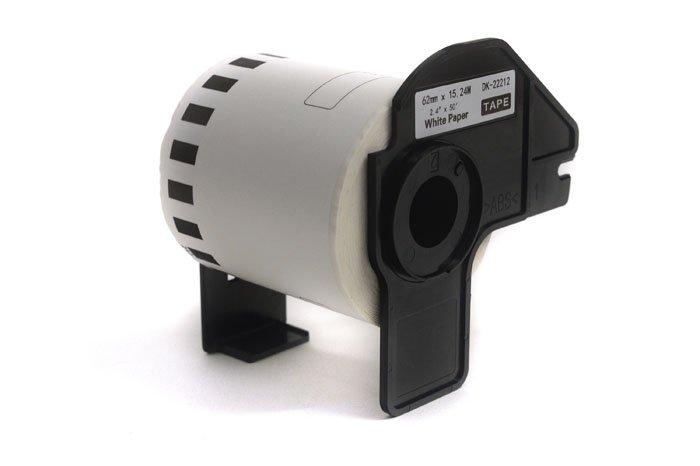 Etykiety JetWorld Zamiennik Brother DK Czarny na Białym 62mm*15.24m  DK22212, DK-22212, DK22.212