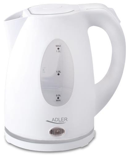 Czajnik elektryczny Adler AD 1207 (2000W 1.5l; kolor biały)