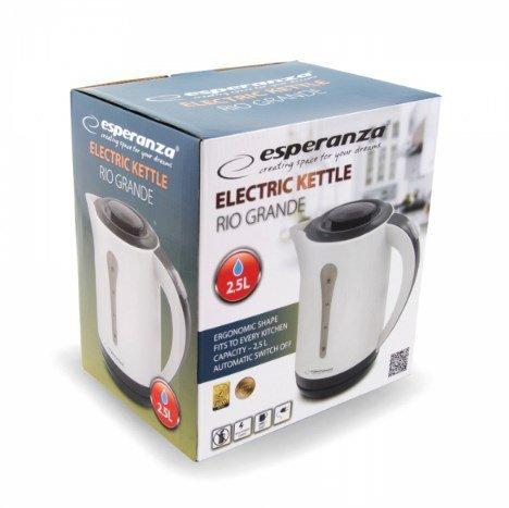 Czajnik elektryczny Esperanza Grande EKK020 (2200W 2.5l; kolor beżowy, kolor grafitowo-czarny)