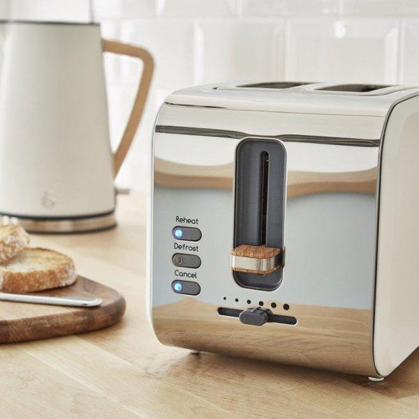 Toster Swan Nordic Toaster ST14610WHTN (900W; kolor biały)