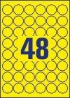 Etykiety Heavy Duty żółte średnica Q30mm L6128-20szt AVERY ZWECKFORM