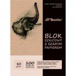 Blok szkicownik A4 100ark. 80g. papier szary 90853 LENIAR