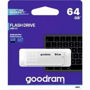 Pamięć USB GOODRAM 64GB UME2 biały USB 2.0 UME2-0640W0R11