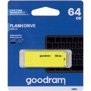Pamięć USB GOODRAM 64GB UME2 żółty USB 2.0 UME2-0640Y0R11