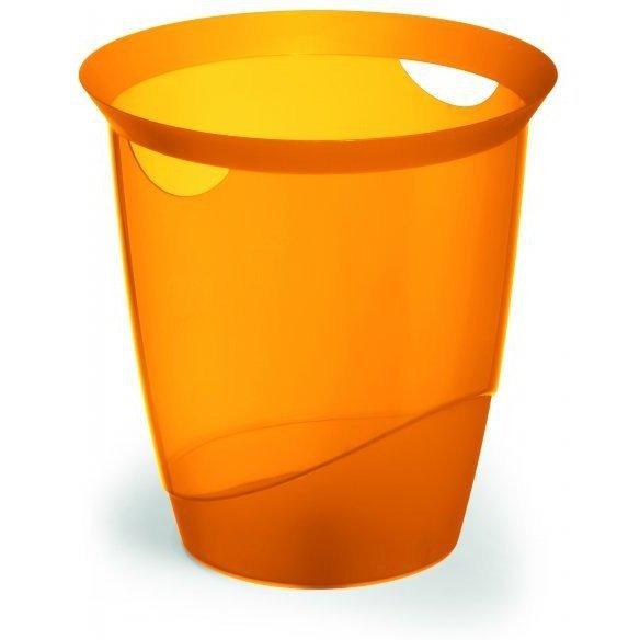 Kosz na śmieci 16l TREND przezroczysty pomarańczowy 1701710009 DURABLE