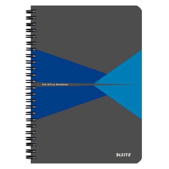Kołonotatnik LEITZ Office A5 w linie z ok.kar niebieski 44590035