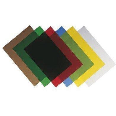 Okładki przezroczyste A4 200mic zielone 100szt 5377301 FELLOWES