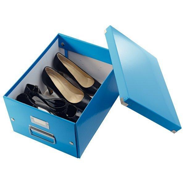 Pudło LEITZ C&S uniwersalne średnie WOW niebieskie 60440036