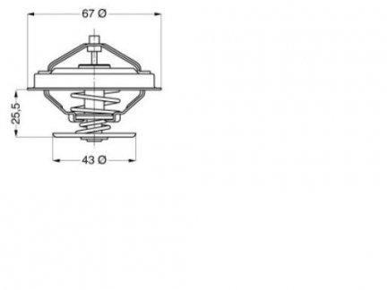 Termostat 2.5-3.1 TD Chrysler Voyager / Jeep 1996-00