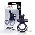 Pierścien erekcyjny - The Screaming O Charged Ohare XL Rabbit Vibe Black