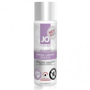 Lubrykant dla wrażliwej skóry - System JO Women Agape Lubricant Warming 60 ml Rozgrzewający