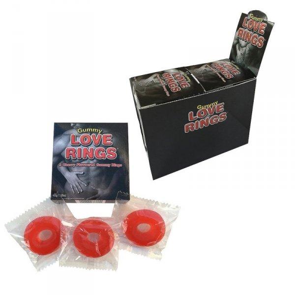 Gumowe pierścienie na penisa - Gummy Love Rings
