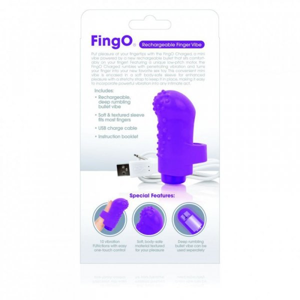 Wibrator na palec - The Screaming O Charged FingO Finger Vibe Purple