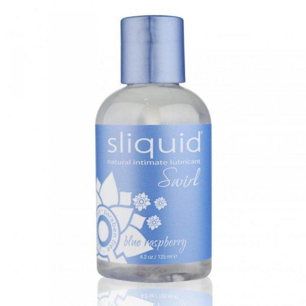 Żel nawilżający - Sliquid Naturals Swirl Lubricant Blue Raspberry 125 ml