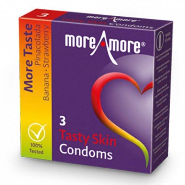 Prezerwatywy - MoreAmore Condom Tasty Skin 3 szt
