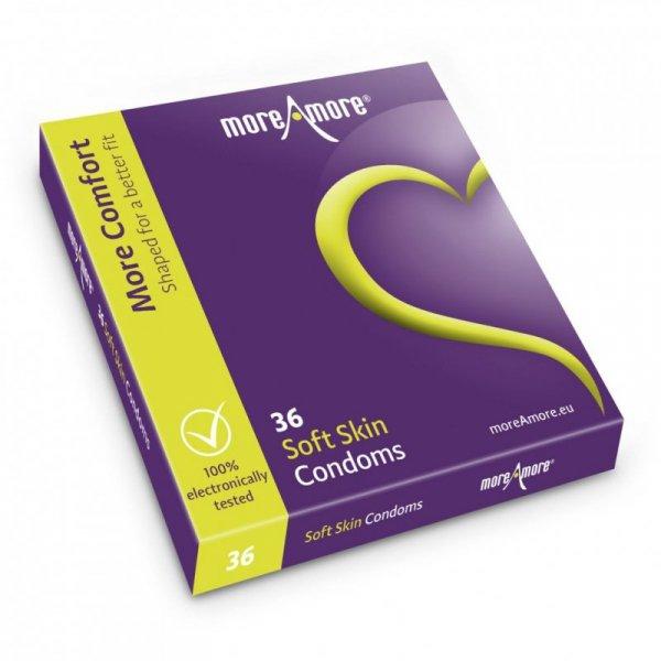 Prezerwatywy - MoreAmore Condom Soft Skin 36 szt