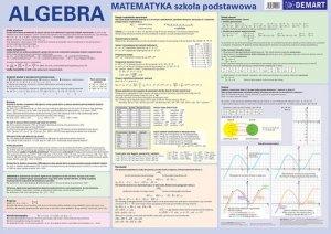 Algebra Szkoła podstawowa Plansza edukacyjna na ścianę i biurko plus książeczka edukacyjna