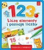 1 2 3  Liczę elementy i poznaję liczby. Książeczka z naklejkami