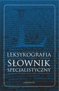 Leksykografia - słownik specjalistyczny