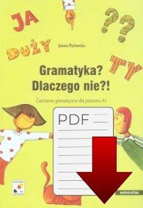 Gramatyka? Dlaczego nie?! Ćwiczenia gramatyczne dla poziomu A1 EBOOK