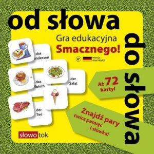 Gra edukacyjna Smacznego! Wersja niemiecka. Od słowa do słowa (72 karty MEMO)