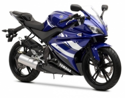 2011 Yamaha R-125 DEEP PURPLISH BLUE