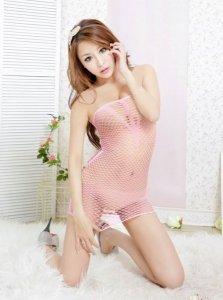 Sukienka - Dress TL51 pink one size