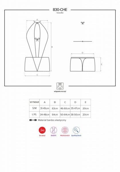 Koszulka i stringi L/XL 830-CHE