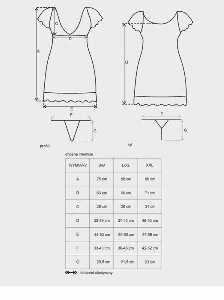 Imperia koszulka i stringi czarna L/XL