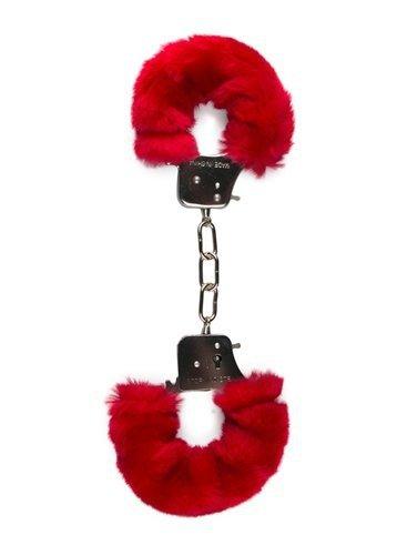 Kajdanki-Furry Handcuffs - Red