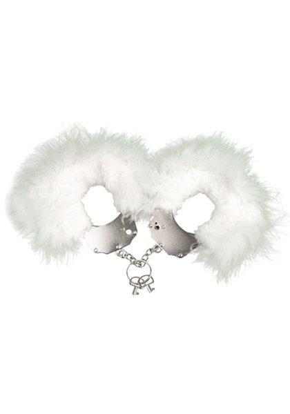 Kajdanki Metallic Handcuffs White