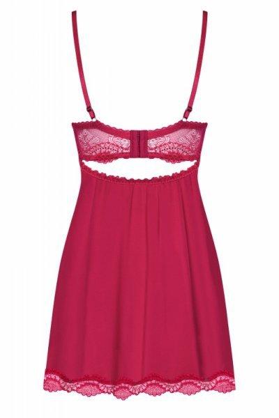 Bielizna Rosalyne koszulka i stringi czerwona L/XL