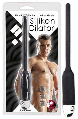 Dilator z wibracjami czarny śr. 8mm