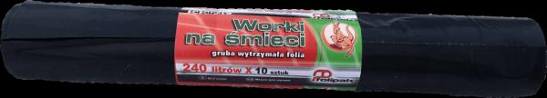 Worki na śmieci LDPE 240L 20szt. czarne EP