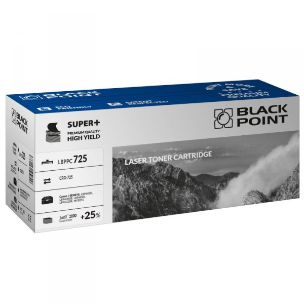 Black Point toner LBPPC725 zastępuje Canon CRG-725, 2000 stron