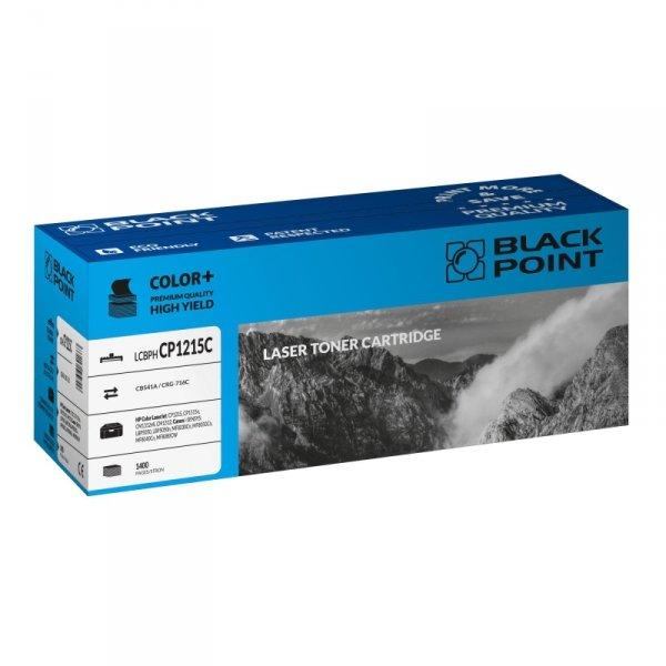 Black Point toner LCBPHCP1215C zastępuje HP CB541A / CRG-716C, niebieski