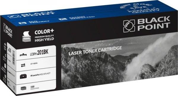 Black Point toner LCBPH201BK zastępuje HP CF400A, czarny