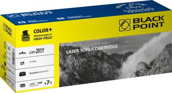 Black Point toner LCBPH201Y zastępuje HP CF402A, żółty