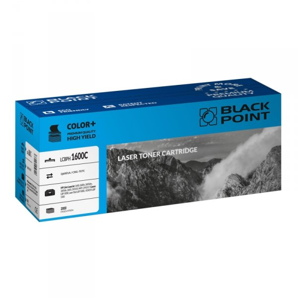 Black Point toner LCBPH1600C zastępuje HP Q6001A / CRG-707C, niebieski