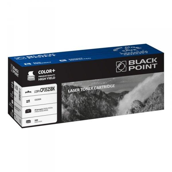 Black Point toner LCBPHCP3525BK zastępuje HP CE250A, czarny