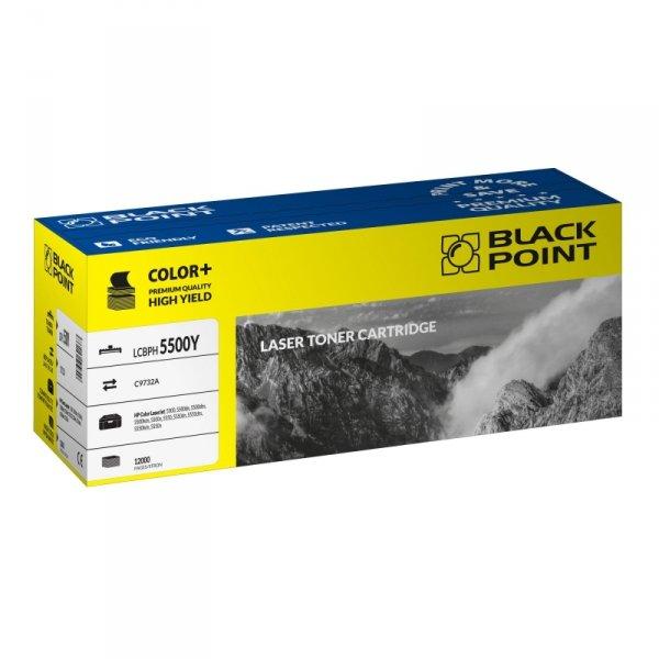 Black Point toner LCBPH5500Y zastępuje HP C9732A, żółty