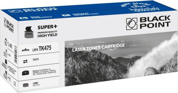 Black Point toner LBPKTK475 zastępuje Kyocera TK-475, black, 15000 stron.