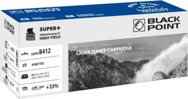 Black Point toner LBPPOB412 zastępuje Oki 45807102, 4000 stron