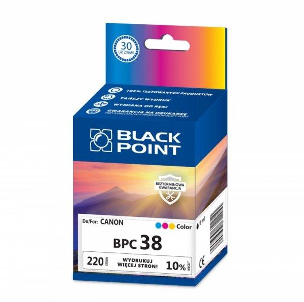 Black Point tusz BPC38 zastępuje Canon CL-38, trójkolorowy